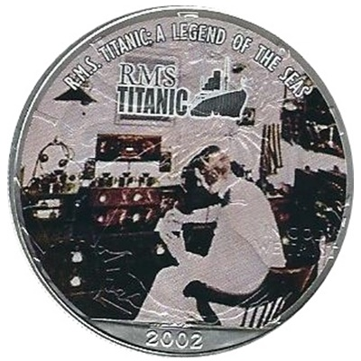 2002 1oz Silver Eagle – RMS Titanic – Radio Room
